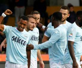 Lazio are already through to the knockout stage. AFP