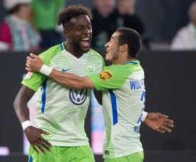 Origi was in fine form as Wolfsburg took a first-leg lead. AFP