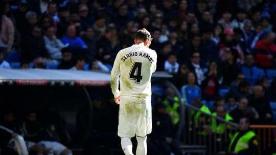 Sergio Ramos chega às 20 expulsões na Liga. AFP