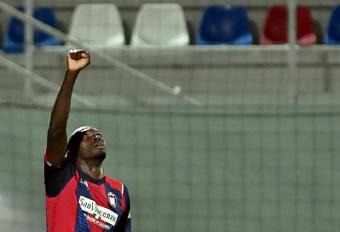 Simy destacó durante la pasada temporada por su papel en el Crotone. AFP