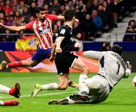 Costa goal wasn't enough for Atletico as Sevilla took control of the tie. AFP