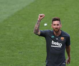 Bayern boss Hansi Flick says Lionel Messi is the best player. AFP