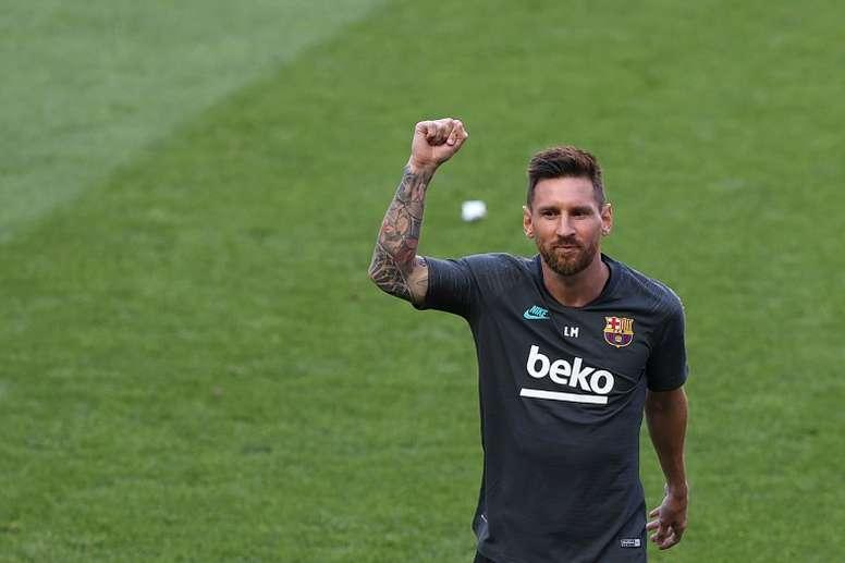 Mascherano elogió a Lionel Messi. AFP