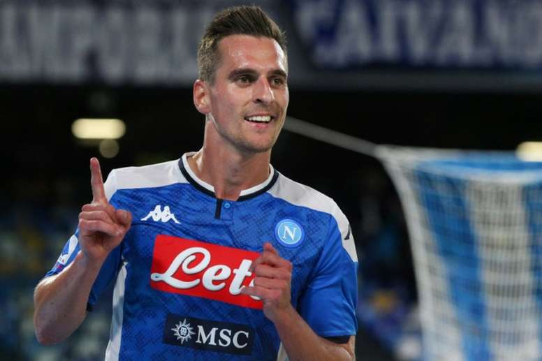 United focus their attention on Milik. AFP