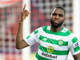 Celtic's Odsonne Edouard scored twice in a 5-0 thrashing of Hearts on Saturday. AFP