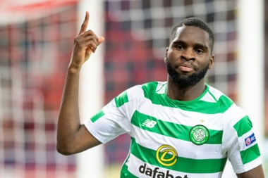 Edouard was the hero for Celtic at Hampden Park. AFP