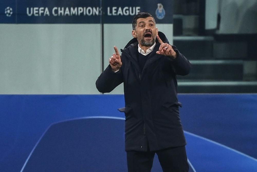 Conceiçao analizó el complicado partido ante el Atlético de Madrid. AFP