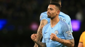 Manchester City forward Gabriel Jesus has scored seven goals in three appearances. AFP
