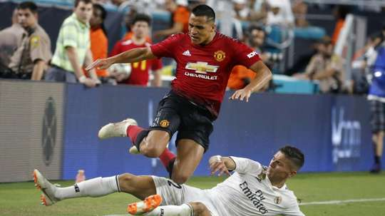 Manchester United's pre-season tour ended with a win. AFP