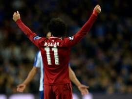 A Juve pensa em Salah para se juntar a Cristiano Ronaldo na frente do ataque. AFP