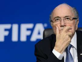 FIFA president Sepp Blatter gives a press conference at footballs world body headquarters in Zurich on July 20, 2015