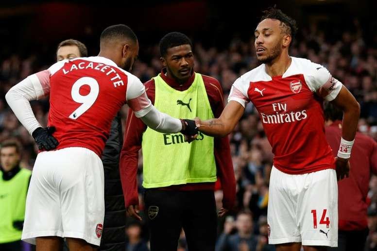 Otro lío en el Arsenal: a Aubameyang 'le gustan' las críticas a Emery. AFP