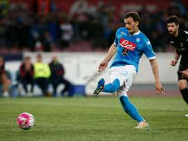 Striker Manolo Gabbiadini will return to his home country. AFP