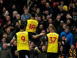 El Watford ganó al Fulham. AFP