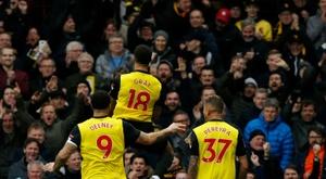 Watford file en demi-finale. AFP