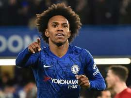 Willian has announced that he is leaving Chelsea. AFP