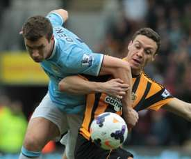 Villa's captain James Chester has received a lot of interest from Stoke City. AFP
