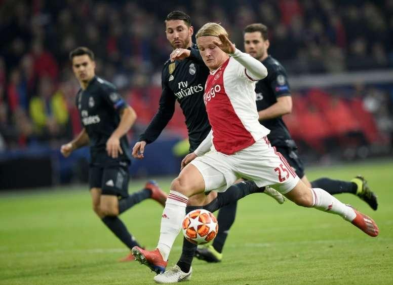 Denmark striker Dolberg signs for Nice. AFP
