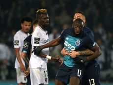 Moussa Marega explains his decision to leave the pitch at Guimaraes. AFP