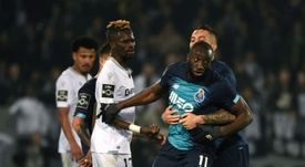 Moussa Marega explains his decision to leave the pitch at Guimaraes. AFP
