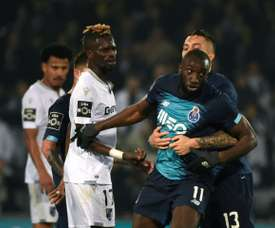 Marega sarcastically criticised the Vitoria Guimaraes fine. AFP