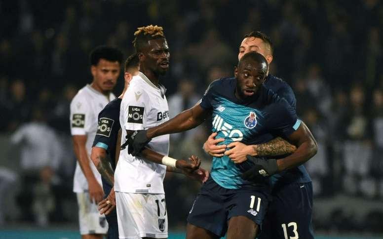 Marega sarcastically criticised the Vitoria Guimaraes fine. AFP