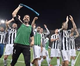 Les adieux de Buffon. AFP