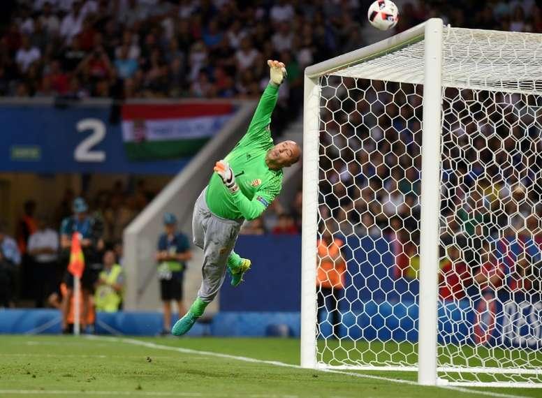 Gabor Kiraly se retiró de la Selección Húngara tras la Eurocopa de Francia 2016. AFP/Archivo