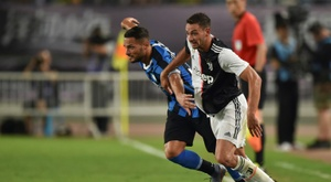 De Sciglio (R) could move to Spanish football. AFP
