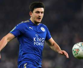 Maguire has been a logn term target for the Old Trafford club.  AFP