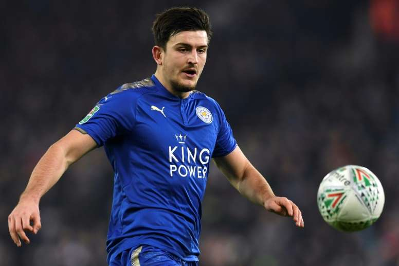 Maguire signed a new five-year deal with Leicester on Sunday. AFP