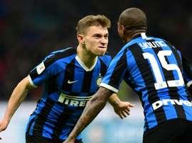 Nicolo Barella deu assistência para o primeiro gol e marcou o segundo da Inter de Milão. AFP/Arquivo