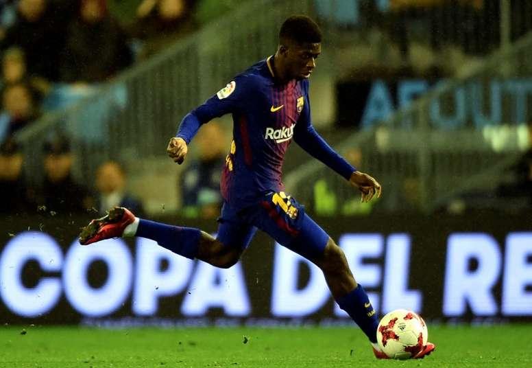 Ousmane Dembele's appearances in a Barcelona. AFP