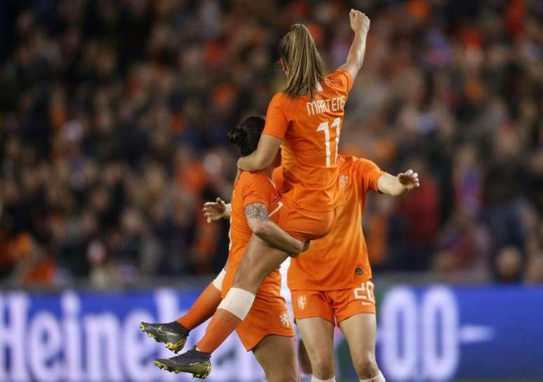 Victoria 'in extremis' de la campeona de Europa. AFP
