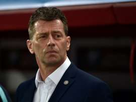 Michael Skibbe has managed Greece since October 2015. AFP