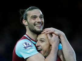 Carroll (L) allegedly carried on the celebrations on Tuesday. AFP
