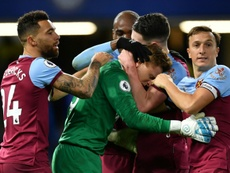 David Martin was in tears after winning and keeping a clean sheet on his West Ham debut. AFP