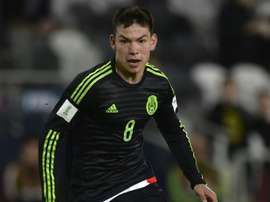 Lozano in action for his country, Mexico. BeSoccer