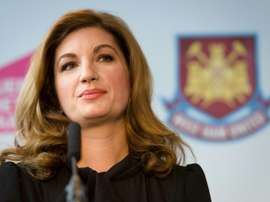 Karren Brady warns of the risks of playing behind closed doors. AFP