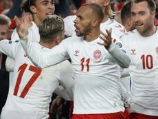 Danes, Swiss through to Euro 2020 as rampant Italy hit nine. AFP
