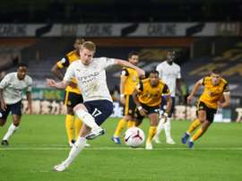De Bruyne scored against Wolves. afp_en