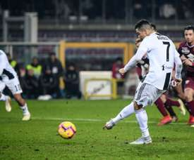 Ronaldo netted his 11th Serie A goal of the season. AFP