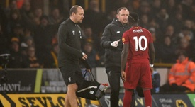 Sadio Mane will miss Liverpool's next few matches. AFP
