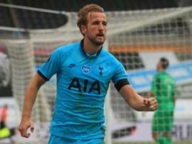 Harry Kane is now on 201 club goals after netting twice for Spurs at Newcastle. AFP