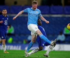 Manchester City to be without injured De Bruyne for six weeks. AFP