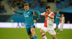 Zenit Saint Petersburg have said they will discipline Alexander Kokorin (L). AFP