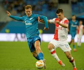 Alexander Kokorin (L) has not played for Zenit since leaving jail. AFP