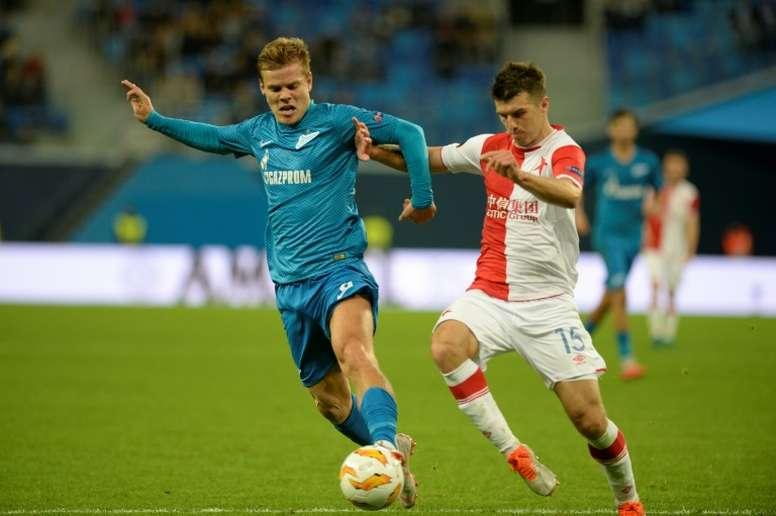 Alexander Kokorin (L) has not played for Zenit since leaving jail. AFP
