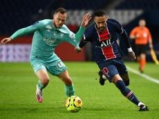 Neymar bags brace as PSG hit six. AFP