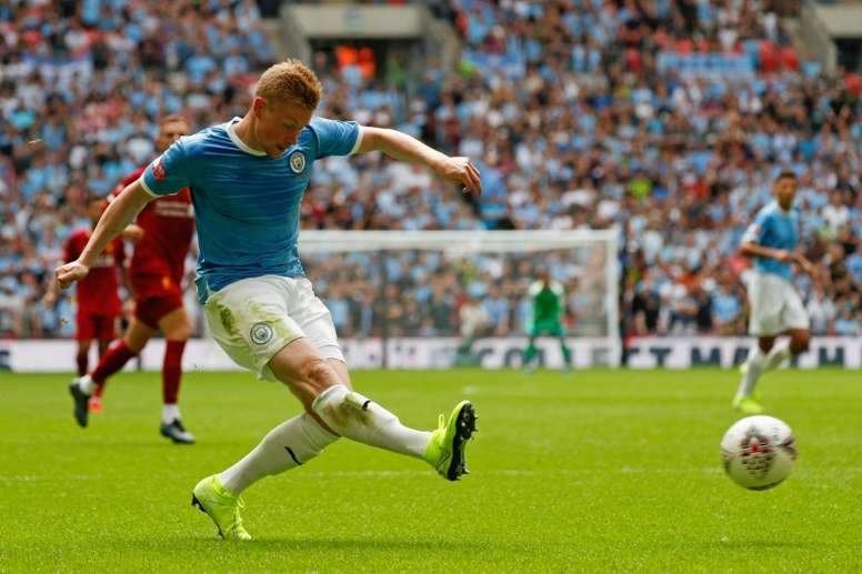 De De Bruyne ao gol. AFP
